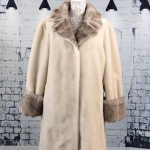 VTG Dennis by Dennis Basso Faux Fur Coat, Size XL